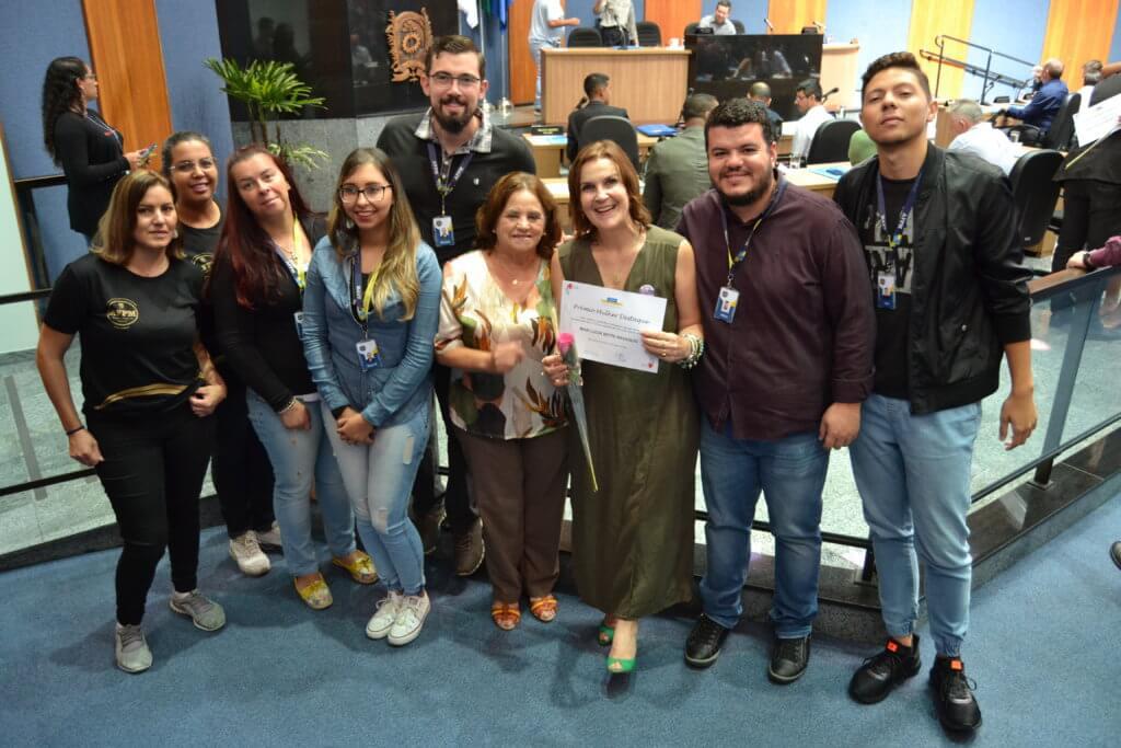 Presidente Mari Lúcia Bette e equipe da AFPM