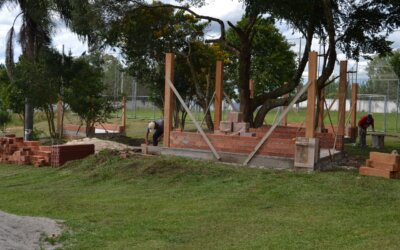 Três Quiosques em construção na AFPM