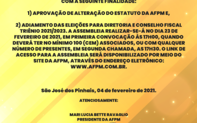 EDITAL DE CONVOCAÇÃO PARA ASSEMBLEIA GERAL ELETRÔNICA